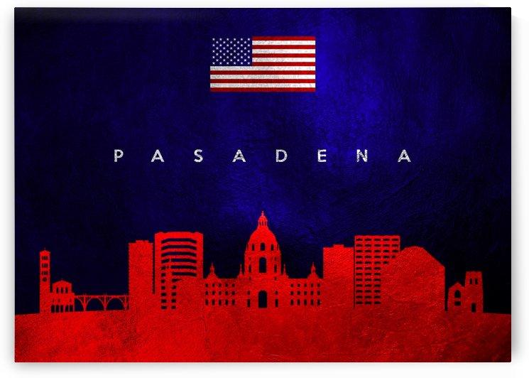 Pasadena California Skyline Wall Art by ABConcepts