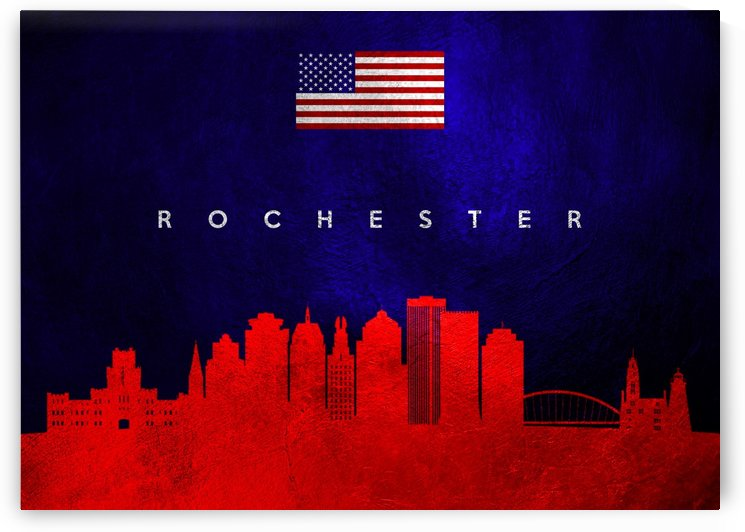 Rochester New York Skyline Wall Art by ABConcepts