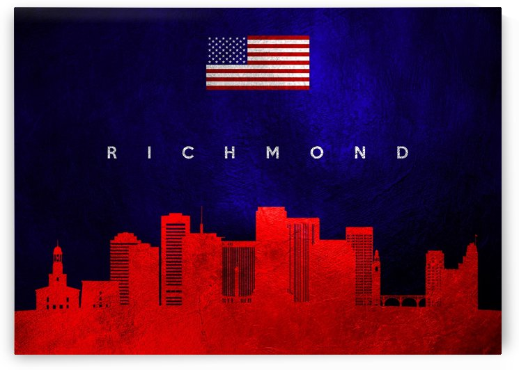 Richmond Virginia Skyline Wall Art by ABConcepts