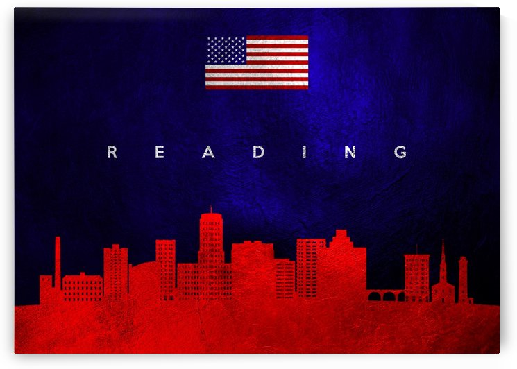 Reading Pennsylvania Skyline Wall Art by ABConcepts