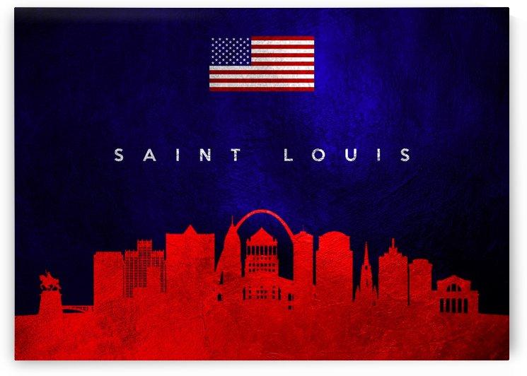 Saint Louis Missouri Skyline Wall Art by ABConcepts