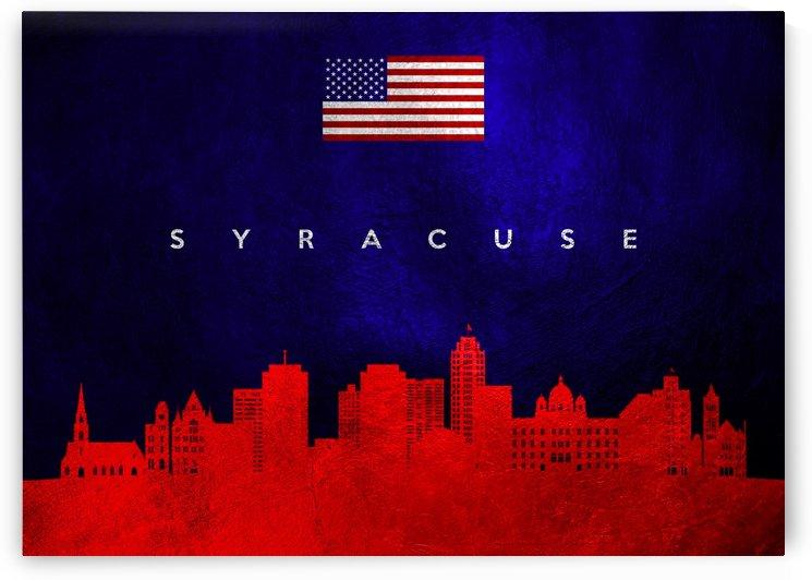 Syracuse New York Skyline Wall Art by ABConcepts