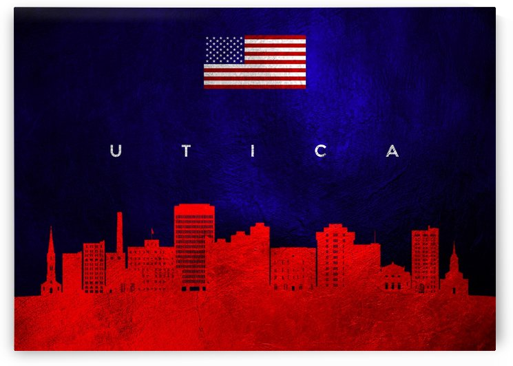 Utica New York Skyline Wall Art by ABConcepts