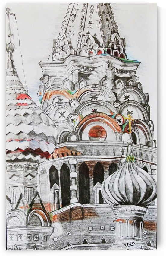 Untitled 2. Drawing of Mosque. by Mariska Meyers