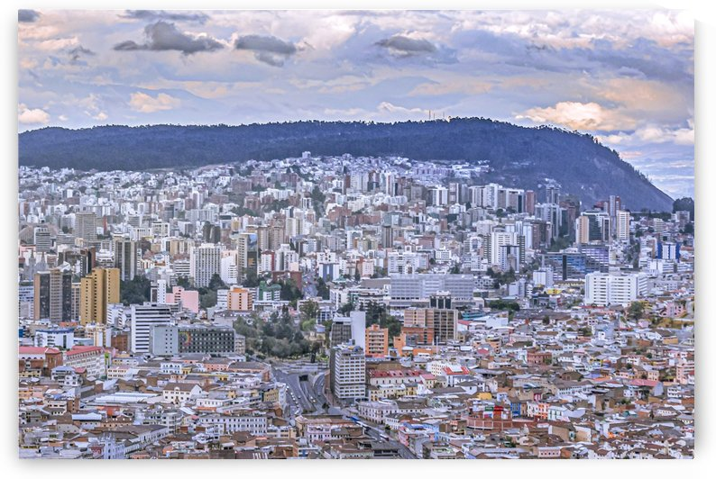 Cityscape Aerial View Quito Ecuador by Daniel Ferreia Leites Ciccarino