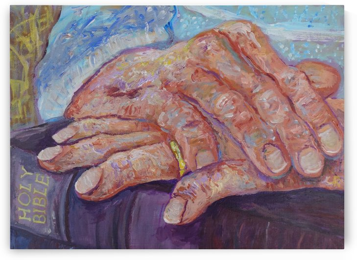 Grandmother praying hands by Chris Rutledge