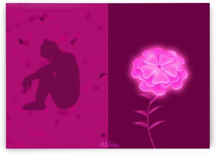 A Flower Blooms in Shadow by Al Baker
