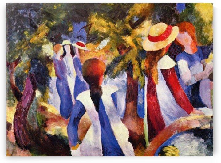 Girls in the Open by August Macke by August Macke