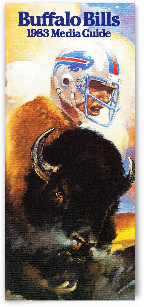 1983 Buffalo Bills Media Guide Artist Bill Ersland by Row One Brand
