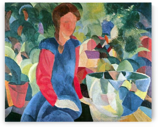 Girls with fish bell by Macke by Macke