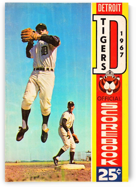 1967 Detroit Tigers Scorebook by Row One Brand