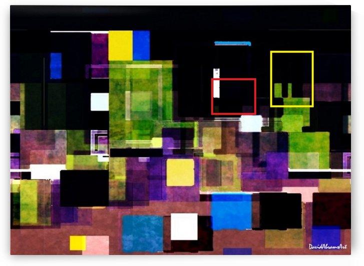 Flourescent Buildings by David Abrams Art