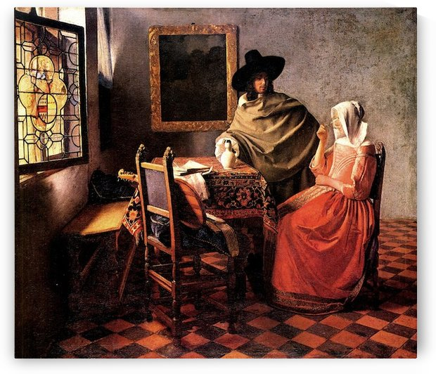 Glass of wine by Vermeer by Vermeer