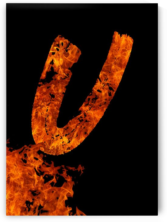 Burning on Fire Letter U by Artistic Paradigms