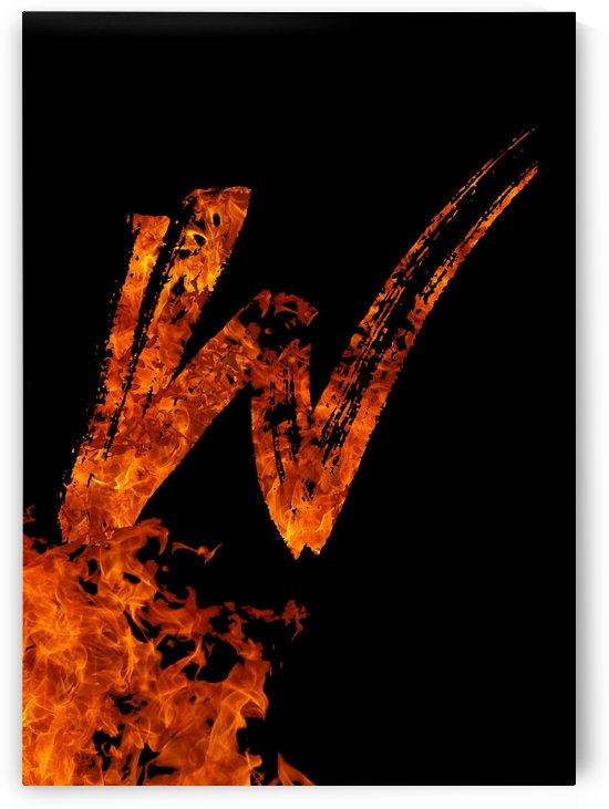 Burning on Fire Letter W by Artistic Paradigms