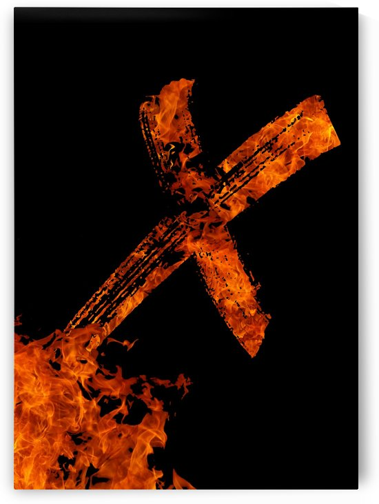 Burning on Fire Letter X by Artistic Paradigms