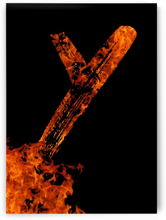 Burning on Fire Letter Y by Artistic Paradigms
