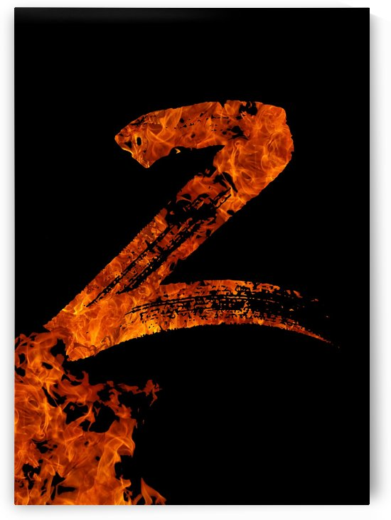 Burning on Fire Letter Z by Artistic Paradigms