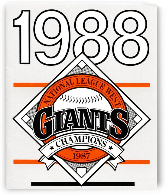 San Francisco Giants 1988 by Row One Brand