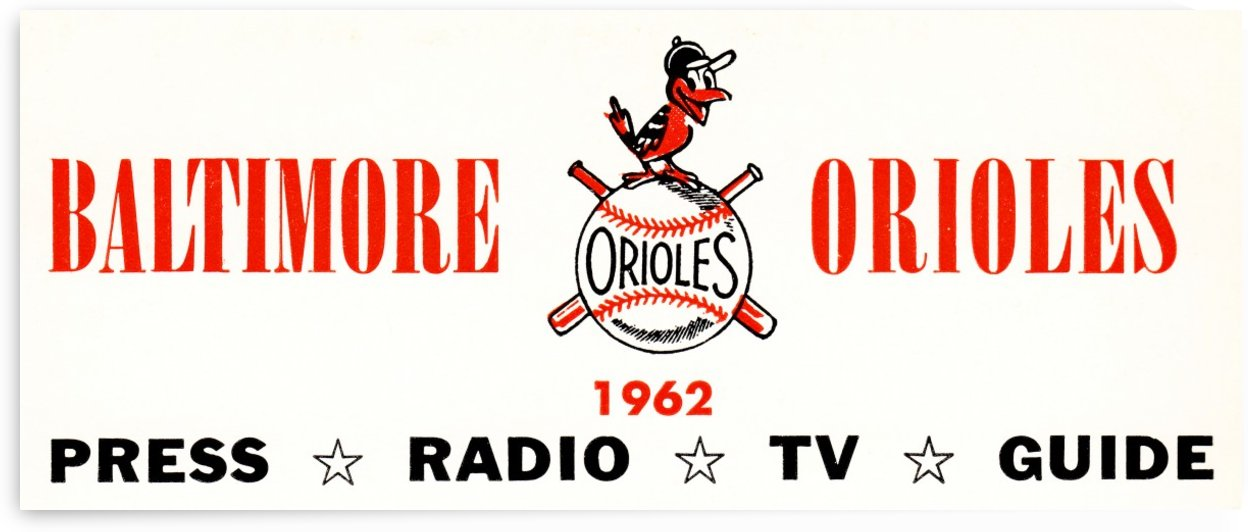 baltimore orioles press guide row one by Row One Brand