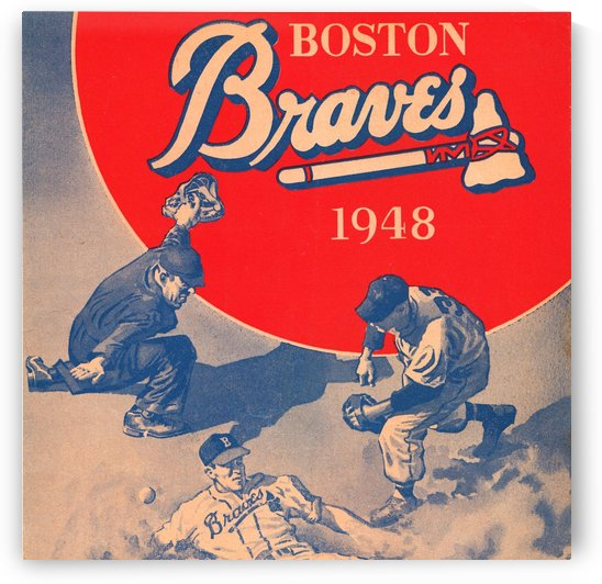 1948 Boston Braves Art by Row One Brand