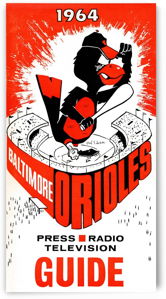 1964 baltimore orioles by Row One Brand