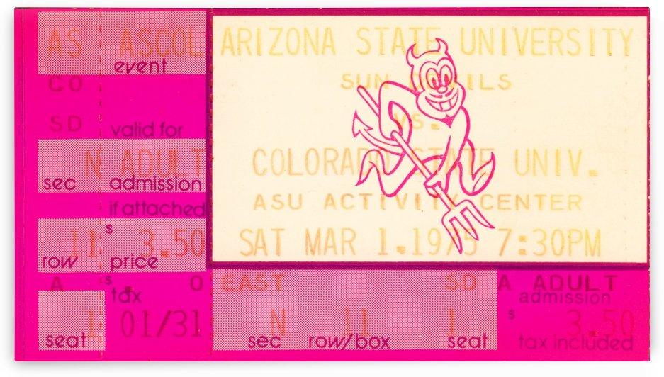 1975 Arizona State Basketball by Row One Brand