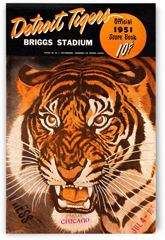 Vintage Detroit Tigers Score Book Art by Row One Brand