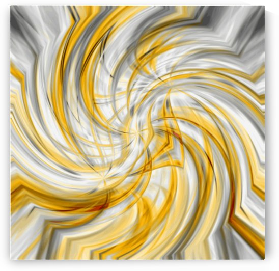 Divine Principle - gold white silver circle abstract wall art by Jaycrave Designs