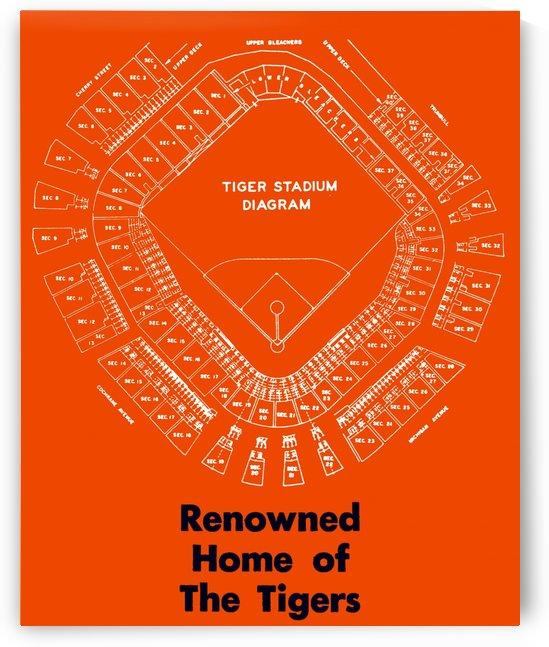 maps tiger stadium diagram row 1 by Row One Brand