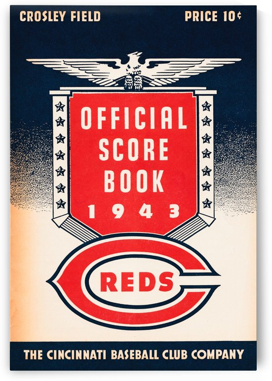 cincinnati baseball club reds scorebook 1941 by Row One Brand