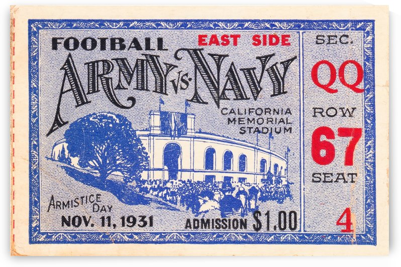 1931 Army vs. Navy by Row One Brand
