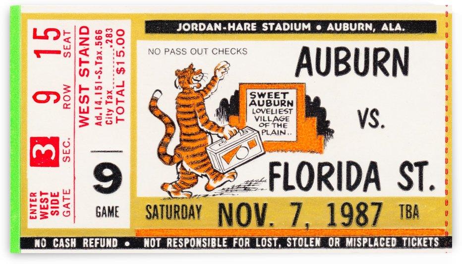 auburn ticket stub by Row One Brand