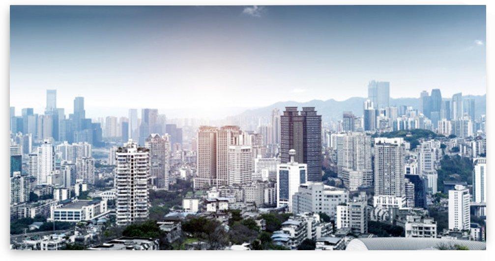 modern metropolis skyline chongqing china by Shamudy
