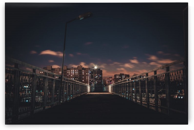 lights night city high houses night by Shamudy