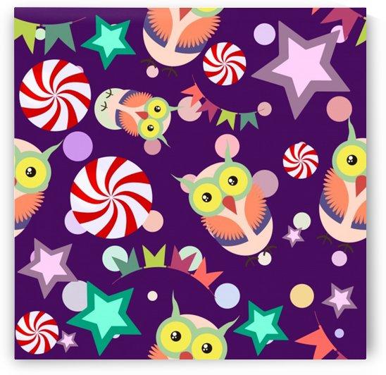 owl pattern background by Shamudy