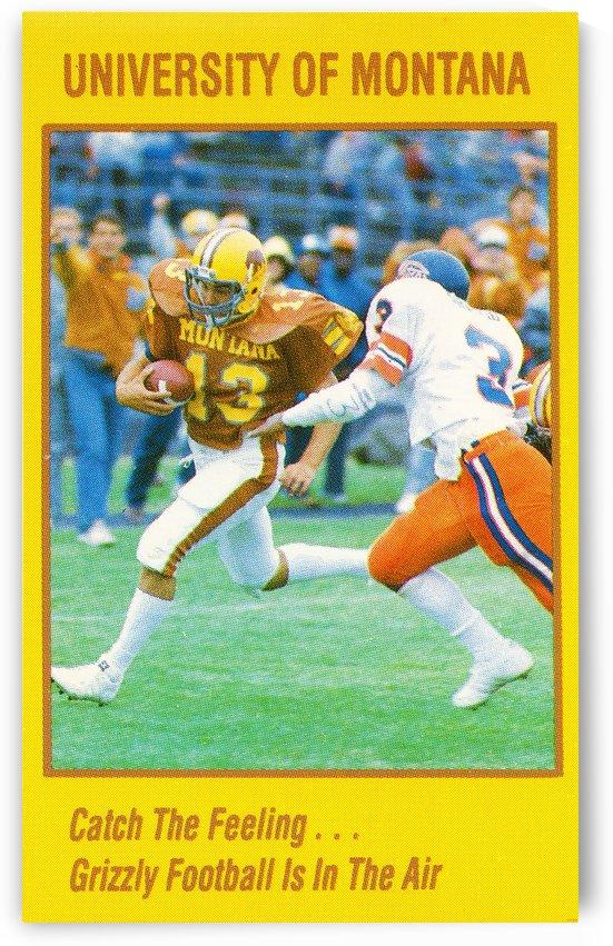 1986 montana football mike rice by Row One Brand