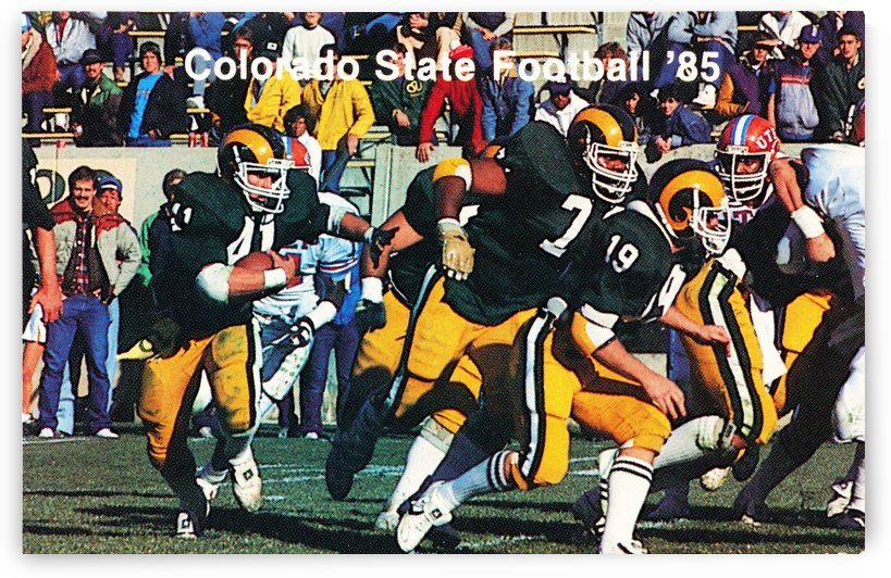 colorado state rams football poster by Row One Brand