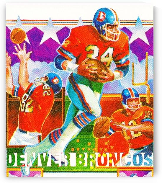 retro remix sports posters row one denver broncos art by Row One Brand