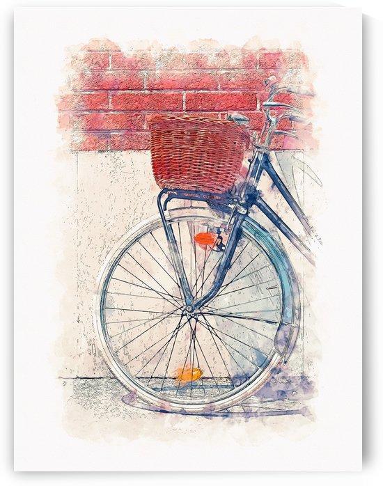 Bike 01 Watercolor by Apolo Prints