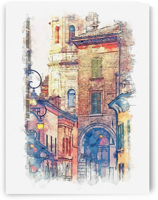 Italy Watercolor 01 by Apolo Prints