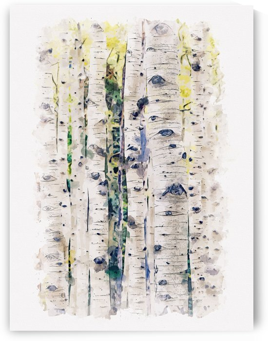 Digital Nature Watercolor 01 by Apolo Prints