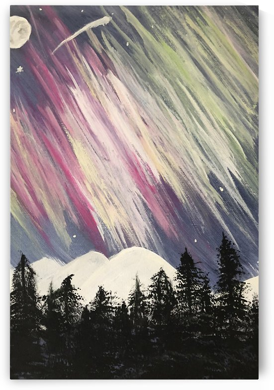 Aurora Borealis Above The Forest by Jacqueline Sleter