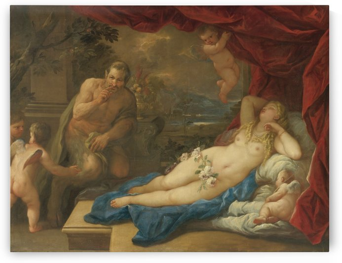 Jupiter and Antiope by Luca Giordano