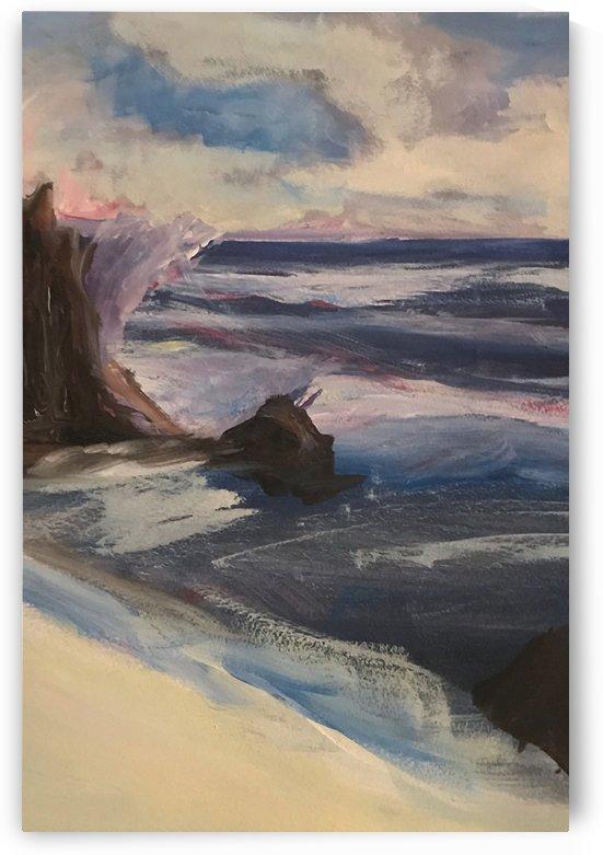 Watercolor Beachscape by Jacqueline Sleter