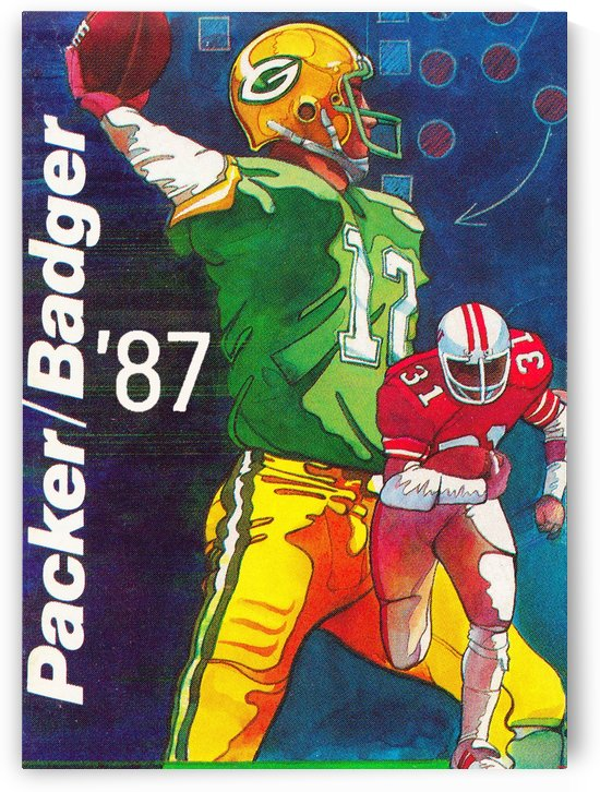 retro sports poster 1987 packer badger (1) by Row One Brand