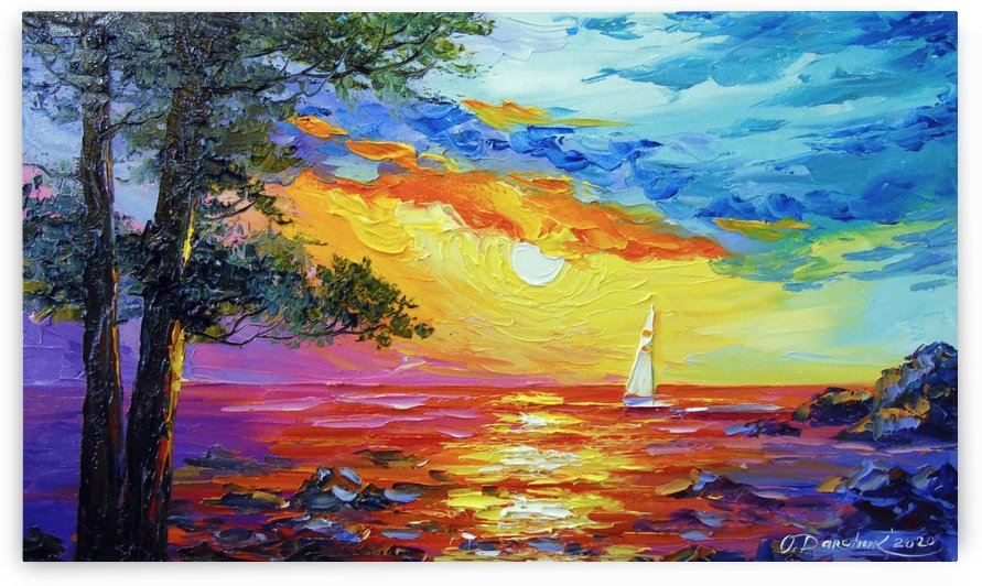 Sailboat at sunset  by Olha Darchuk