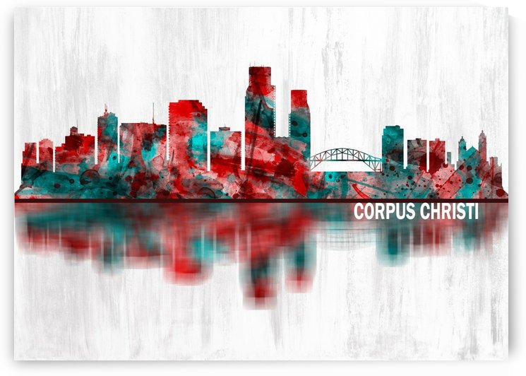 Corpus Christi Texas Skyline by Towseef