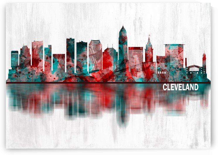 Cleveland Ohio Skyline by Towseef