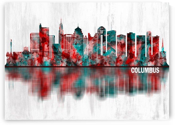 Columbus Ohio skyline by Towseef